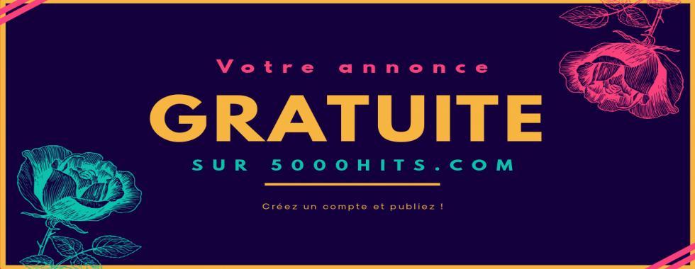 Publiez vos annonces gartuitement sur 5000hits.com !